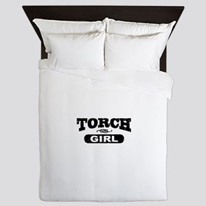 Torch Girl Queen Duvet
